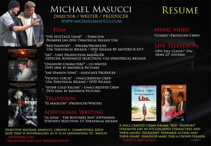 Award Winning Film Director Michael Massuci